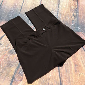 65 Career Trouser Pant Pockets Stretch brown 10